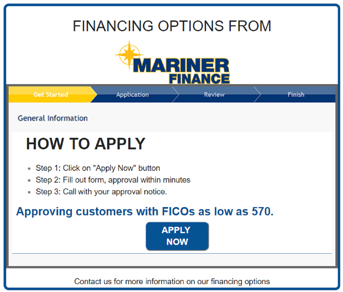 Mariner Secure Online Financing Application